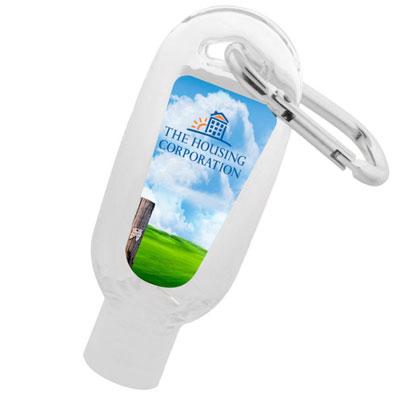 Hand Sanitiser Gel with Carabiner